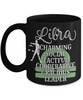 Libra Zodiac Black Mug Gift Fun Novelty Birthday Coffee Cup