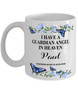 Paul Memorial Mug 11 oz In Loving Memory Mourning Emotional Support Cup