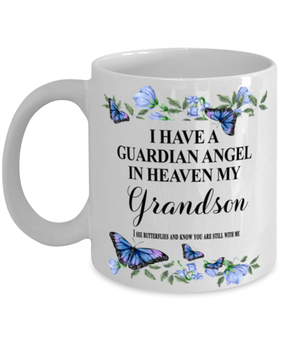 Grandson Memorial Mug 11 oz In Loving Memory Mourning Emotional Support Cup