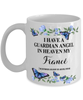 Fiance Guardian Angel Mug Gift Memorial In Heaven Remembrance  Coffee Cup