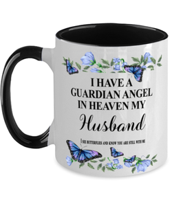 Husband Memorial Two-Toned Mug In Loving Memory Mourning Emotional Support Cup