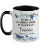 Cousin Memorial Two-Toned Mug In Loving Memory Mourning Emotional Support Cup