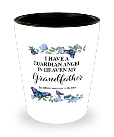 Grandfather Memorial Shot Glass In Loving Memory Mourning Emotional Support Keepsake