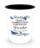 Grandpa Memorial Shot Glass In Loving Memory Mourning Emotional Support Keepsake