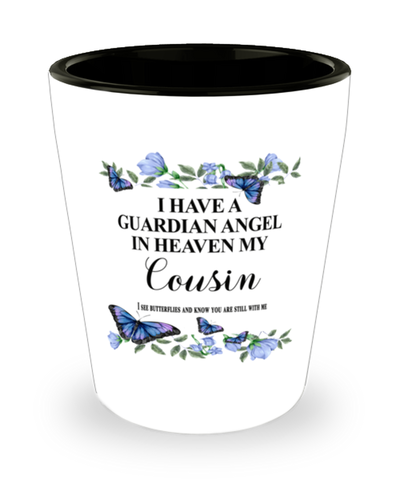 Cousin Memorial Shot Glass In Loving Memory Mourning Emotional Support Keepsake