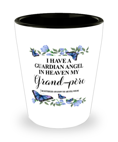 Grand-pere Memorial Shot Glass In Loving Memory Mourning Emotional Support Keepsake