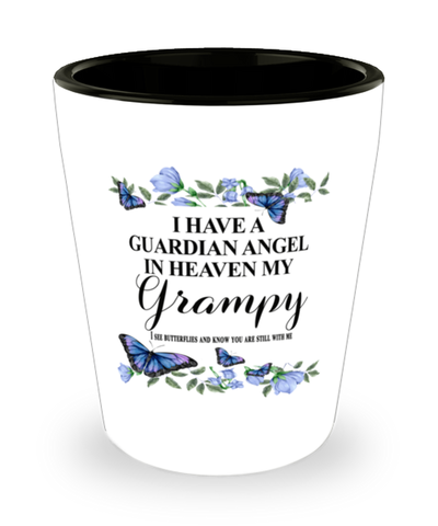 Grampy Memorial Shot Glass In Loving Memory Mourning Emotional Support Keepsake