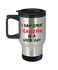 Fishkeeping Good Day  Travel Mug With Lid 14 oz Hobby Coffee Cup