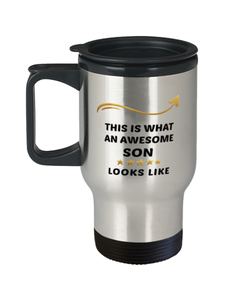 Son Travel Mug  Awesome Person Looks Like 14 oz Coffee Cup