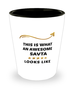 Savta  Shot Glass This is What Awesome Looks Like Shotglass