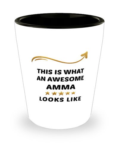 Amma  Shot Glass This is What Awesome Looks Like Shotglass