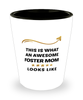 Foster Mom  Shot Glass This is What Awesome Looks Like Shotglass