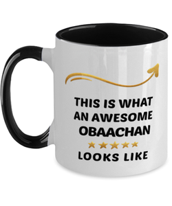 Obaachan Mug  Awesome Person Looks Like 11 oz  Two-Toned Ceramic Coffee Cup