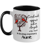 Aunt Cardinal Memorial Mug In Loving Memory Mourning Keepsake 11 oz Two-Toned Coffee Cup