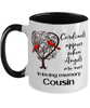 Cousin Cardinal Memorial Mug In Loving Memory Mourning Keepsake 11 oz Two-Toned Coffee Cup