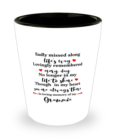 Grammie In Loving Memory Shot Glass Mourning Remembrance Shotglass Keepsake