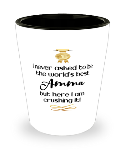 Amma Worl'ds Best Shot Glass Crushing it Shotglass Keepsake