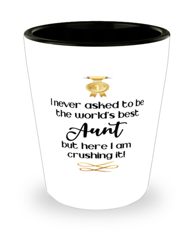 Aunt Worl'ds Best Shot Glass Crushing it Shotglass Keepsake