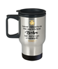 Babu World's Best Travel Mug Crushing it 14 oz Coffee Cup