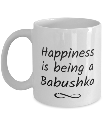 Image of Babushka Mug Happiness is Being 11oz Coffee Cup
