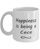 Cece Mug Happiness is Being 11oz Coffee Cup