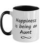Aunt Mug Happiness is Being 11oz Two-Toned Coffee Cup