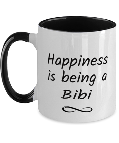Bibi Mug Happiness is Being 11oz Two-Toned Coffee Cup