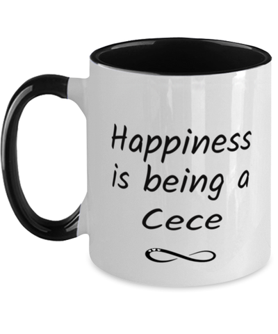 Image of Cece Mug Happiness is Being 11oz Two-Toned Coffee Cup