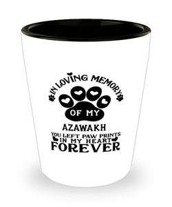 Azawakh Dog Shot Glass Pet Memorial You Left Pawprints in My Heart Keepsake