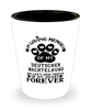 Deutscher Wachtelhund Dog Shot Glass Pet Memorial You Left Pawprints in My Heart Keepsake