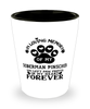 Doberman Pinscher Dog Shot Glass Pet Memorial You Left Pawprints in My Heart Keepsake