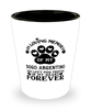 Dogo Argentino Dog Shot Glass Pet Memorial You Left Pawprints in My Heart Keepsake