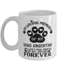 Dogo Argentino Dog Mug Pet Memorial You Left Pawprints in My Heart Coffee Cup
