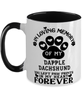 Dapple Dachshund Dog Mug Pet Memorial You Left Pawprints in My Heart Two-Toned Coffee Cup
