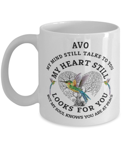 Avo In Loving Memory Mug Hummingbird My Mind Talks To You Memorial Keepsake Cup