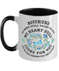Boyfriend In Loving Memory Mug Butterfly My Mind Talks To You Memorial Keepsake Two-Toned Cup