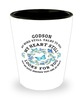 Godson In Loving Memory Shot Glass Butterfly My Mind Talks To You Memorial Keepsake