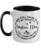 Adoptive Mom Loving Memory Mug My Mind Talks To You Remembrance Keepsake Two-Toned 11oz Cup