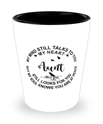 Aunt Loving Memory Shot Glass My Mind Talks To You Remembrance Keepsake