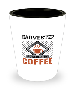 Harvester Shot Glass Powered by Coffee Occupational Shotglass