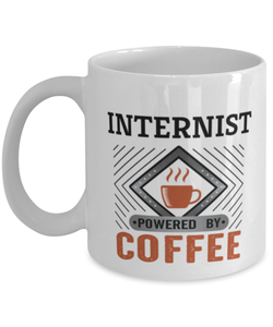 Internist Mug Powered by Coffee Occupational 11oz Ceramic Cup