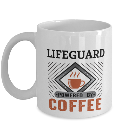 Image of Lifeguard Mug Powered by Coffee Occupational 11oz Ceramic Cup