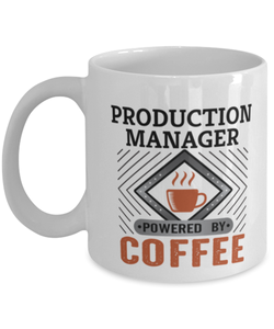 Production Manager Mug Powered by Coffee Occupational 11oz Ceramic Cup