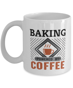 Baking Mug Powered by Coffee Hobby 11oz Ceramic Cup