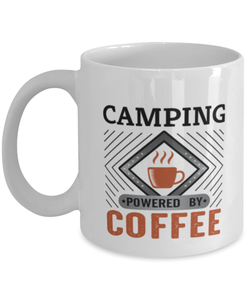 Camping Mug Powered by Coffee Hobby 11oz Ceramic Cup