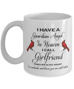 Girlfriend Memorial Cardinal Mug Guardian Angel Remembrance Sympathy Keepsake