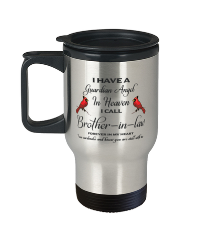 Brother-in-law Memorial Cardinal Travel Mug Guardian Angel Remembrance Sympathy Cup