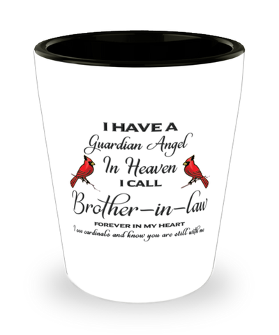 Brother-in-law Memorial Cardinal Shot Glass Guardian Angel Remembrance Sympathy Shotglass