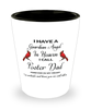 Foster Dad Memorial Cardinal Shot Glass Guardian Angel Remembrance Sympathy Shotglass