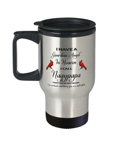 Nagypapa Memorial Cardinal Travel Mug Guardian Angel Remembrance Sympathy Cup